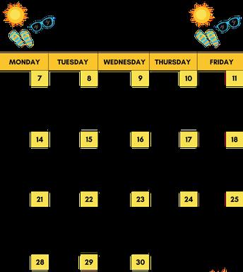 Summer Conversation Starters Calendar