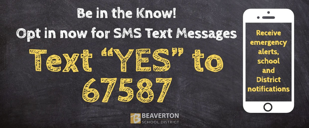 Text Yes to 67587 to sign up for text messages