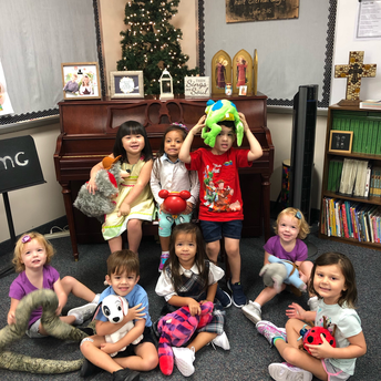 "Pre-K 3 Holding the Animals from the ""Sitting on the Farm"" Song"