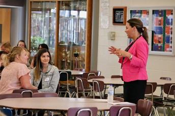 Superintendent Dr. Heinz addresses new teachers