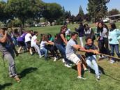 Mr. Haneta's class tugging!