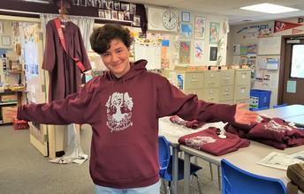 Gabe Adelman with a New Sweatshirt