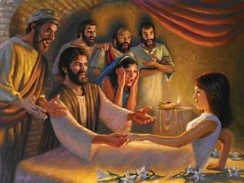 Jesus Raises a Girl to Life