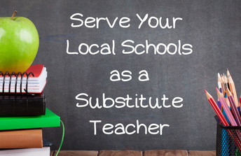 graphic - serve your local schools as a substitute teacher