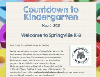 Countdown to Kindergarten Newsletter