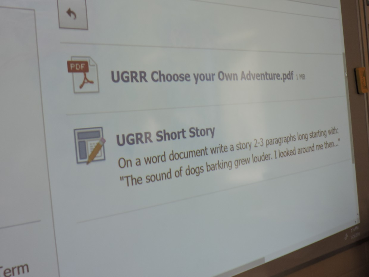 "UGRR Short Story On a word document write a story 2-3 paragraphs long starting with ""The sound of dogs barking grew louder. I looked around me then..."""