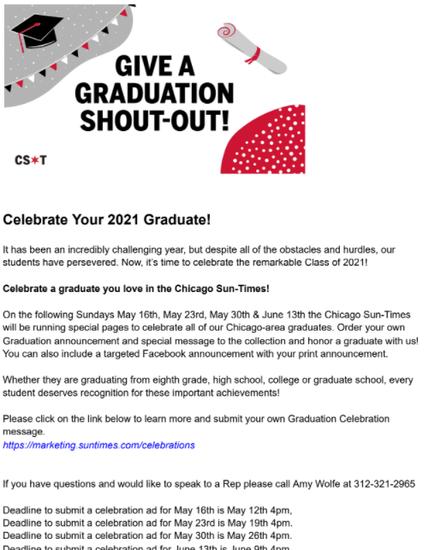 Graduation Celebration Message