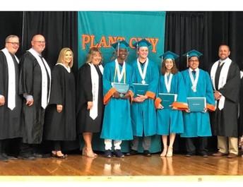 Congratulations to the Plant City High graduates who have joined the military and will be leaving for basic training. Nehemiah Cofield-USMC, Braden Majors-U.S. Army, Ariana Velez-USMC and Ricardo Francisco-USMC.