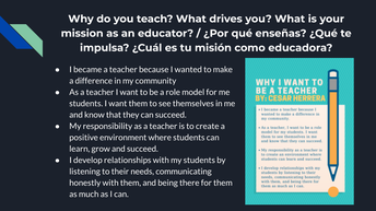 My Mission as an Educator is...
