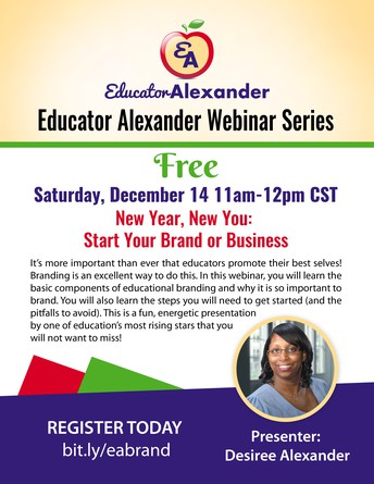 LAST CHANCE TO REGISTER FOR FREE WEBINAR: New Year, New You: Start Your Brand or Business