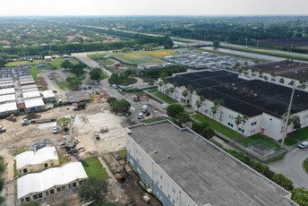 Aerial view of Cypress Bay High School
