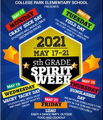 5th Grade Spirit Week