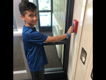 Thanks for helping with the August fire drill Mateo!