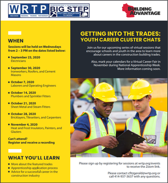 Getting into the Trades: Youth Career Cluster Chats