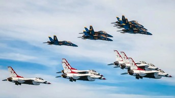 The Blue Angels and Thunderbirds