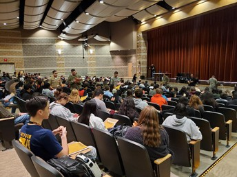 ASVAB Testing - over 400 students participated