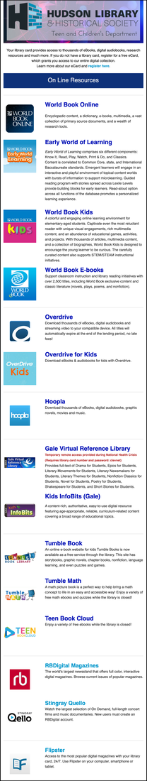 Hudson Library resources