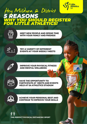 Mildura and District Little Athletics Open for Registrations