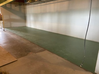 Some flooring being laid in classroom pods