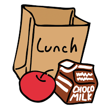 lunch sack with apple and choco milk