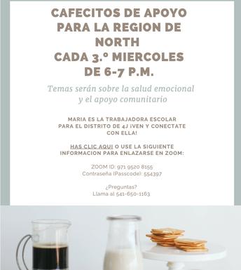 Cafecito de Apoyo for North Region every 3rdd Wednesday