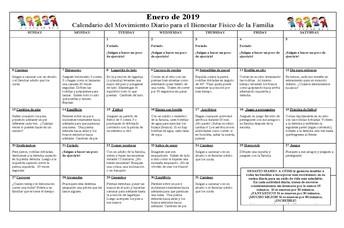 Calendario de Movimiento