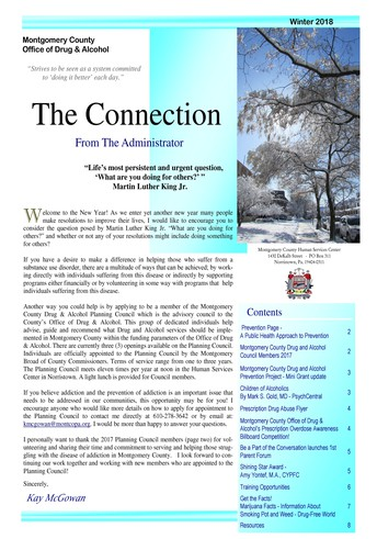 Montgomery County Office of Drug & Alcohol Quarterly Newsletter