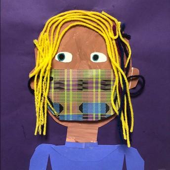 Second Grade Art - Self Portraits!