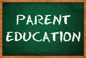 Parent Education Series- Please note date changes in the invites