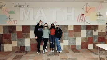 Students Paint Math Mural at Davies