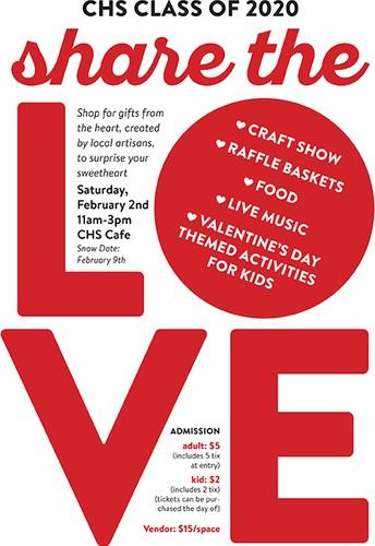 """Class of 2020 Hosts """"Share the Love"""" Craft Fair"""