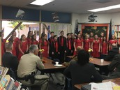Show Choir performing for our PAYBAC speakers.