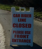 Please Follow Morning Car Line Procedures to Keep Your Child Safe