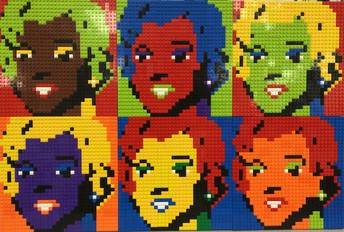 Portraits made of Legos