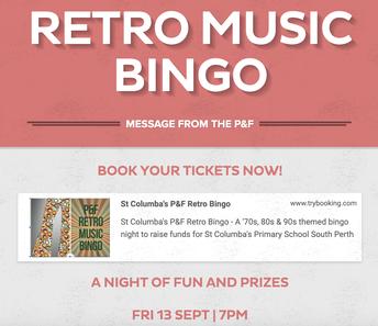 P&F Preparing for Next Friday's Music Bingo