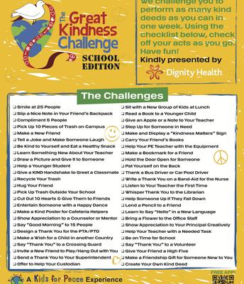 Great Kindness Challenge 1/27 - 1/31