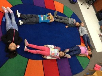 We can make a rectangle with our bodies!