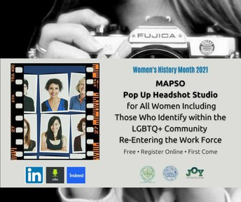 MAPSO Installs Free Pop-Up Professional Headshot Studio for Women