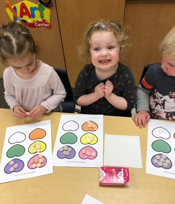Monkey Class - Candy Heart Sorting