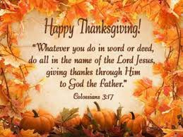 HAPPY THANKSGIVING TO OUR HOLY REDEEMER FAMILIES!