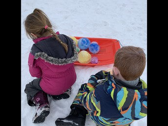 Outdoor fun with snow globes!
