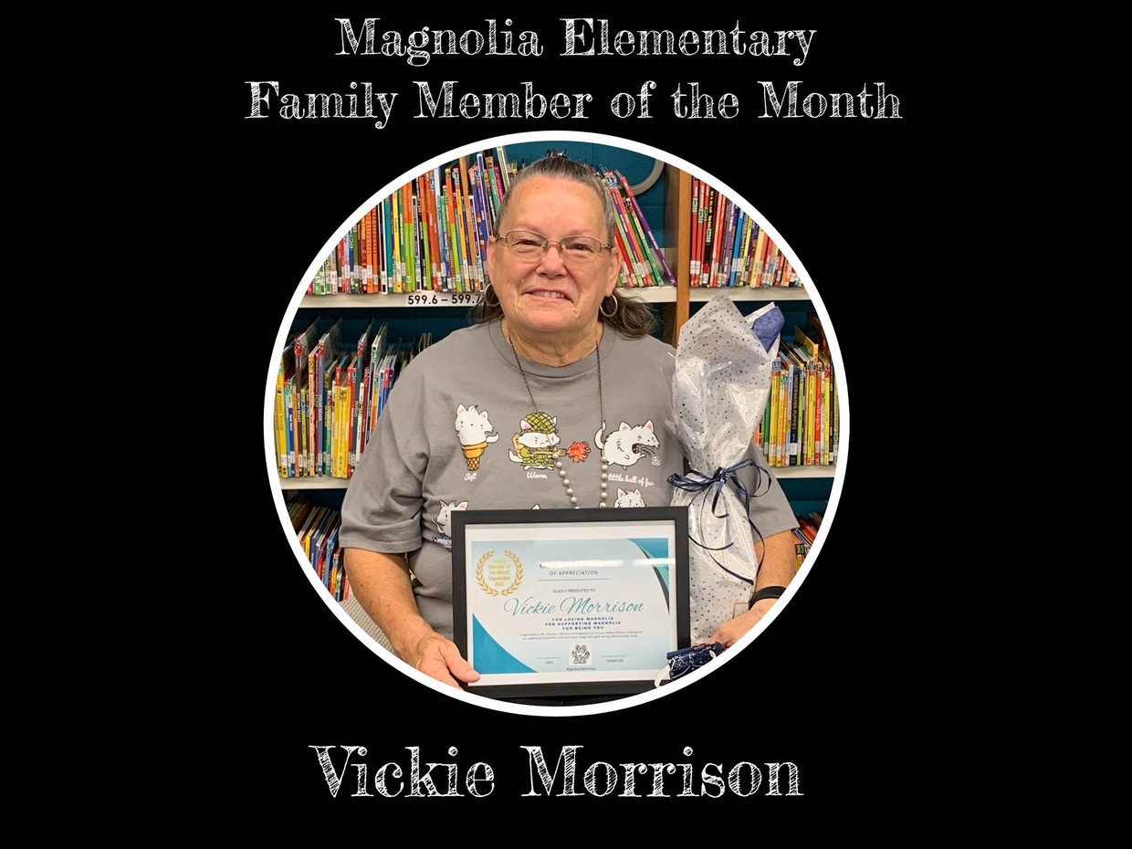 picture of Vickie Morrison holding certificate