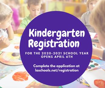 Kindergarten Registration Begins on April 6th!