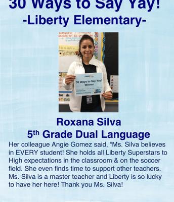 Roxana Silva, 5to Grado Doble Idioma