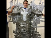 Students earned 1 ft. of tape per pair of socks