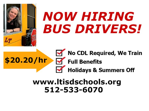 LTISD hiring bus drivers advertisement