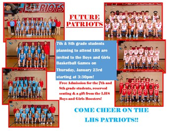 LHS Future Patriots Basketball Games