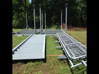 Steel Deck Platform, Stairs and Guardrails