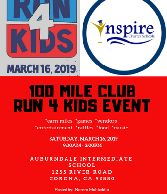 100 Mile Club - Run 4 Kids Event!