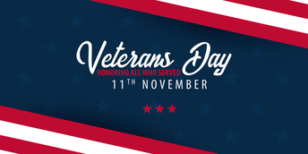 Please join us for our community Veterans Day Assembly-November 11, 9 AM
